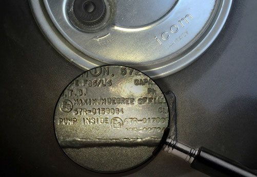 Autogas-Tank der Icom JTG Autogasanlage