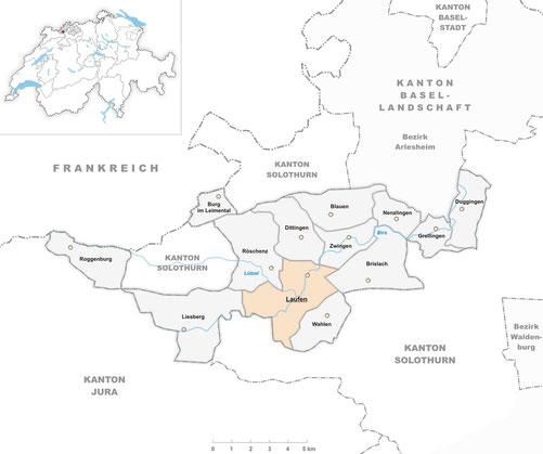 Karte Solothurn Baselland