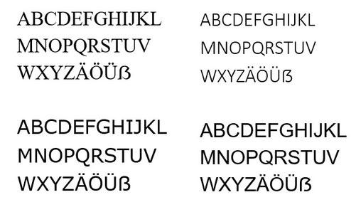 Schriftarten in Word 2019