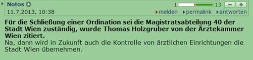 derStandard: http://derstandard.at/1373512271431/Mehrere-Patientinnen-verletzt-Wiener-Aerztin-bot-Billig-Abtreibungen-an?seite=12#forumstart
