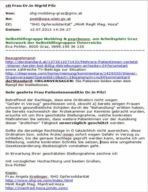 Opferschutz Selbsthilfegruppe Mobbing Graz Impressum