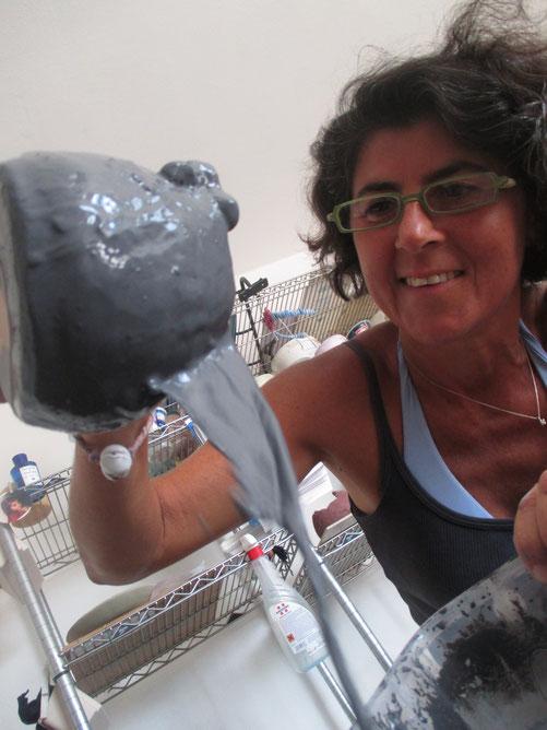 Rosaria Bonelli al lavoro. Le Terre di Rò