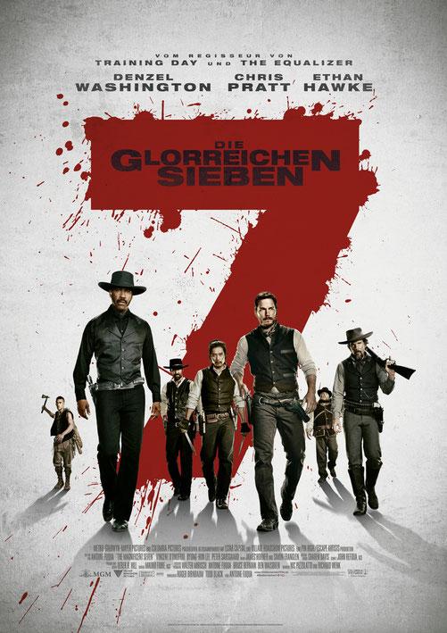 Denzel Washington - Die Glorreichen Sieben - Sony - MGM - Columbia - kulturmaterial - German Poster
