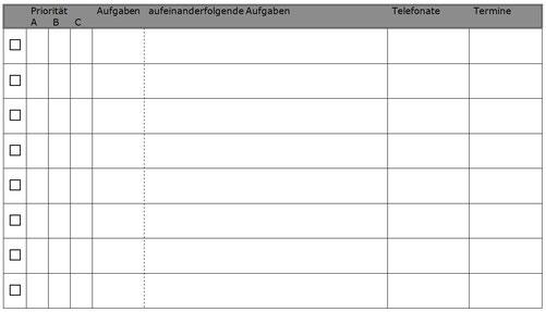 Aufgabenplan & To-do-Liste