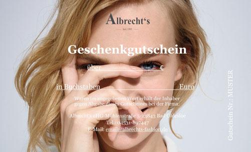 Gutschein Albrecht's Fashion