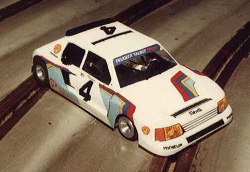 """La 205 Peugeot Turbo 16 de Fred Warnant, vainqueur du concours d""""élégance."""