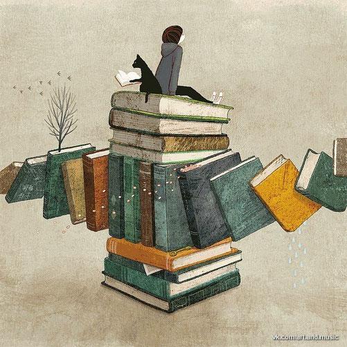 Читать не размышляя, все равно, что есть и не переваривать / Lesen ohne nachdenken das gleiche wie essen ohne verdauen
