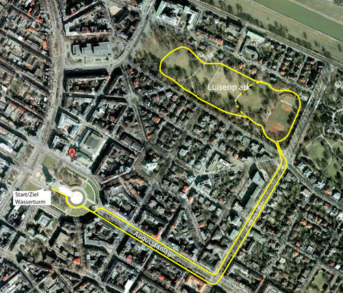 Die Strecke ist 4 km lang.