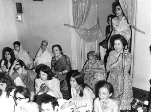 "1969 Guruprasad, India : ""Last Darshan"" East Coast gathering performance - Amrit Irani, Martha Aubin, Andrea Winzimer and MaryAnne Barnhart"