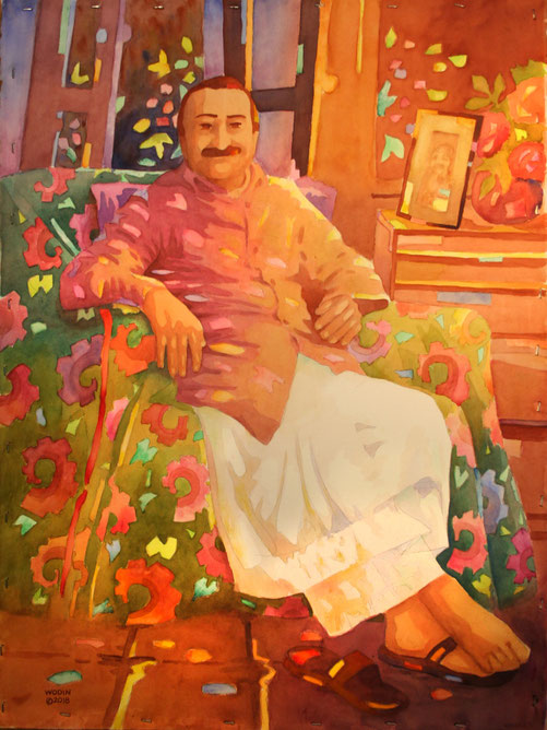 Meher Baba relaxing