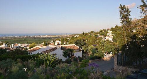 Aussicht vom Restaurante Residencial in Monte Pego - mit Blick auf das Meer