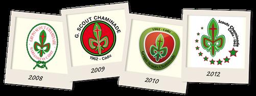 Evolución de los Logotipos del Grupo Scout Chaminade - Cádiz en los últimos cinco años