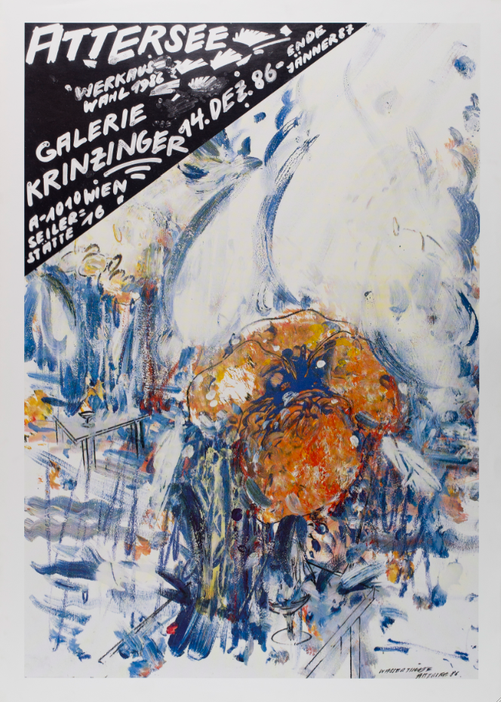 Christian Ludwig Attersee Poster Plakat 1986 1980er