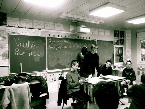 écriture, collège de Marcheprime (33)