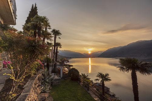 Der Sonnenaufgang von unserem Hotel La Rocca