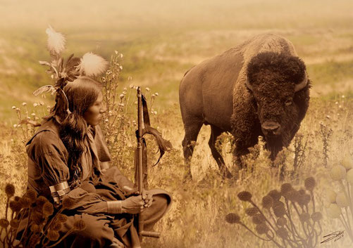 mission channeling sharing native American bison