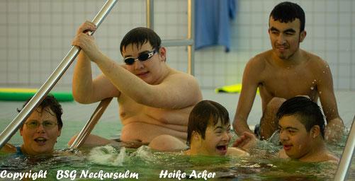 Die neue Schwimmgruppe der BSG mit ÜL Daniela (Sophia fehlt)