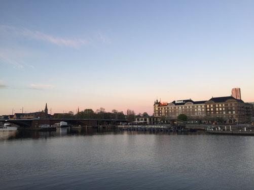 Blick auf das Wasser am Sydhavn