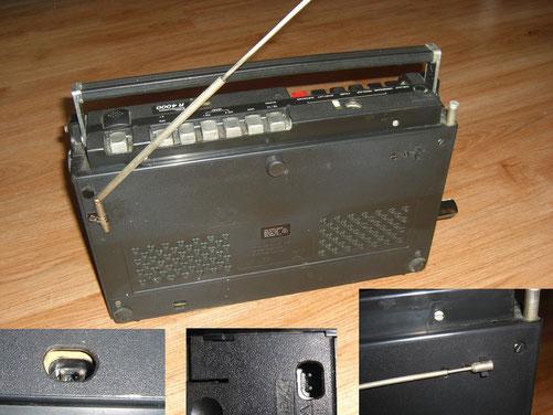 """Zusatzantenne """"cool"""", 2x Netzbuchse hinten und unten, dadurch Betrieb stehend oder liegend möglich"""