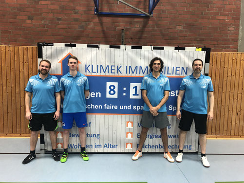 Die erfolgreiche dritte Mannschaft (v. l. Matthias Baldauf, Peer Stobbe, Christoph Spanier, Olaf Kopplin)