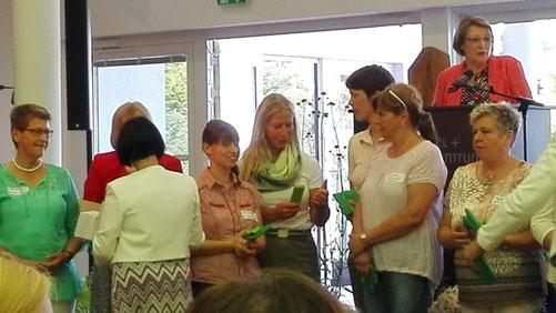 Begrüßung der neuen Kreisvorsitzenden Ann-Kathrin Schmidt und Wiebke Janshen