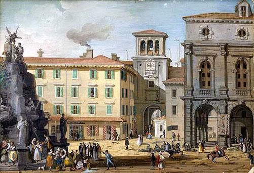 G. B. Bison, Piazza Vecchia a Trieste, 1820