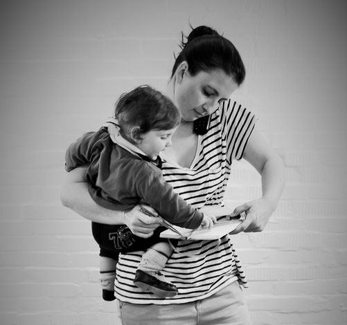 bosnanova-Gründerin Nela mit Sohn Nino