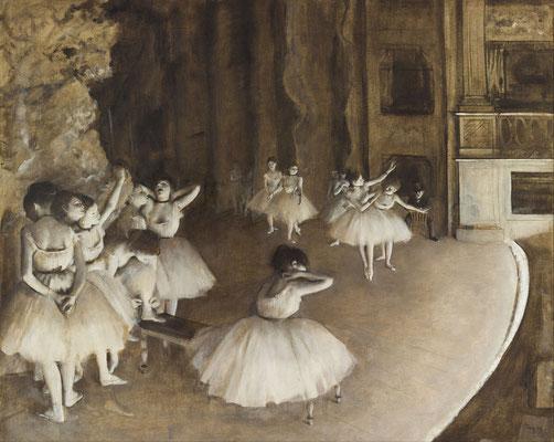 《舞台での踊り子のリサーハル》1874年