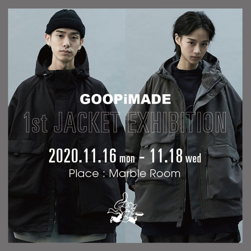GOOPiMADE, 台湾, ファッション, グーピーメイド, 岡山, MARBLEROOM, マーブルルーム, 正規取扱店