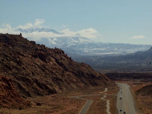 Blick runter nach Moab