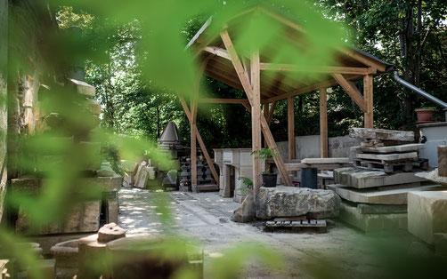 Steinmetz-Werkstatt in Dresden, die Sandstein und Naturstein nachhaltig verarbeitet
