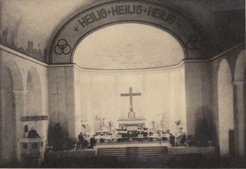 Innenraum der neu erbauten Pfarrkirche, Foto: Kath. Kirchengemeinde