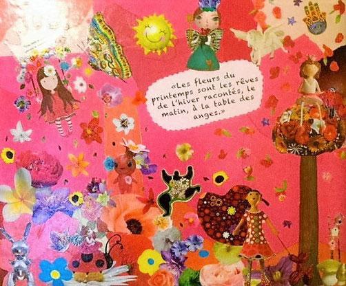 """Collage """"Bienvenue Aviva"""", pour la naissance d'une petite princesse."""