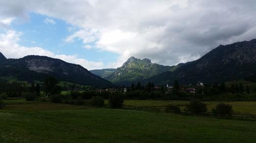 Die Wolken haben sich vom Aggenstein gelöst...