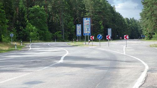 An der Lettisch- Litau'schen Grenze