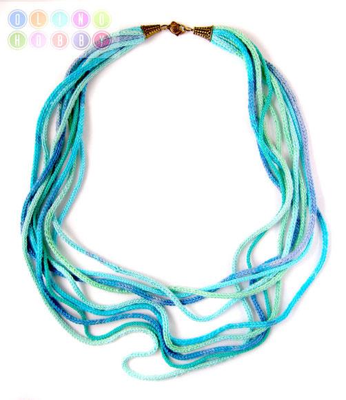 вязаное ожерелье, бусы из вязаный жгутов, вязаные бусы