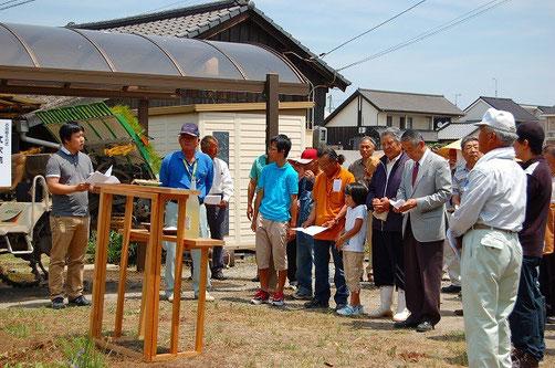 生産者・消費者・ユーザー・JA関係者、老若男女が大勢集まった、先日のお田植え祭