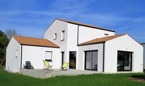 Maison parpaing à Saint Lumine de Coutais