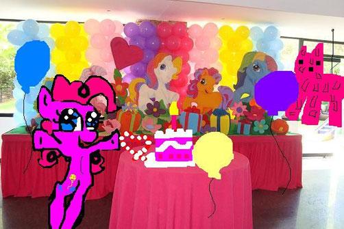 pinkie a una festa!