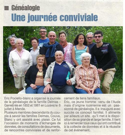 Lozère Nouvelle du 11/07/2014