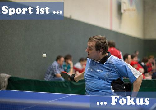Sport ist Fokus - Tischtennisspieler
