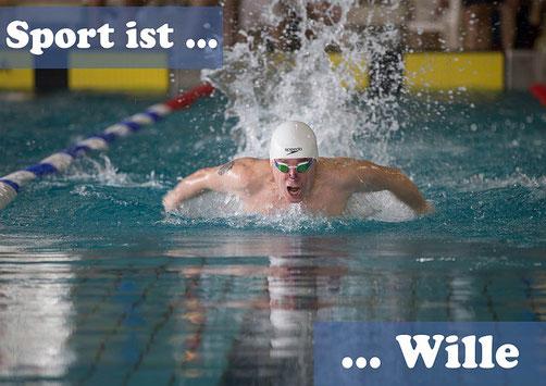Sport ist Wille - mental beeinträchtigter Schwimmer