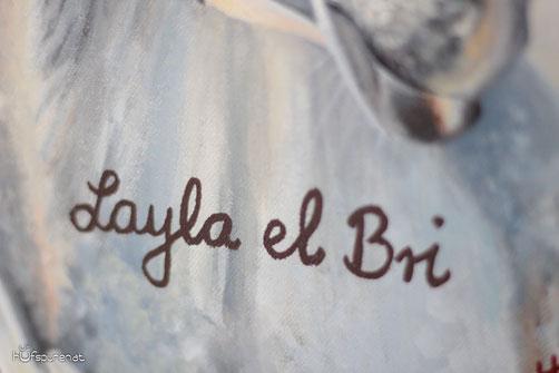 Pferd malen lassen, Pferd zeichen lassen, Pferdegemälde, Pferdezeichnung, Pferdebild nach Fotovorlage mit Namensbeschriftung