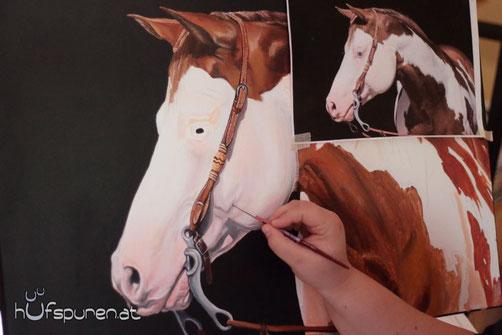Pferde realistisch malen nach Fotovorlage