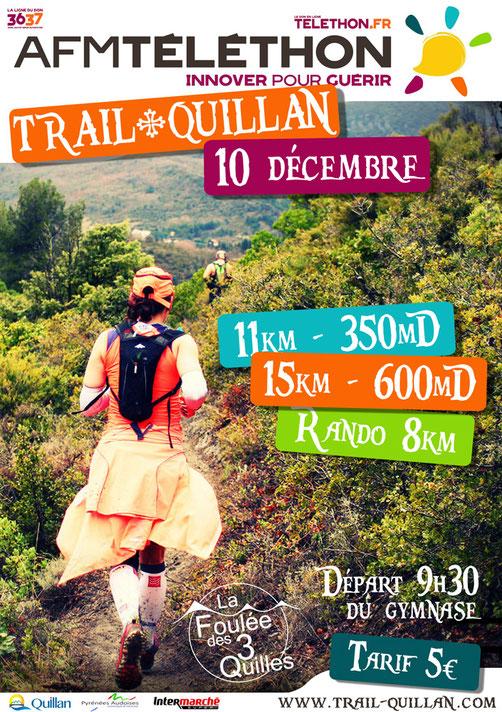 Téléthon Trail Quillan - 10 décembre 2017