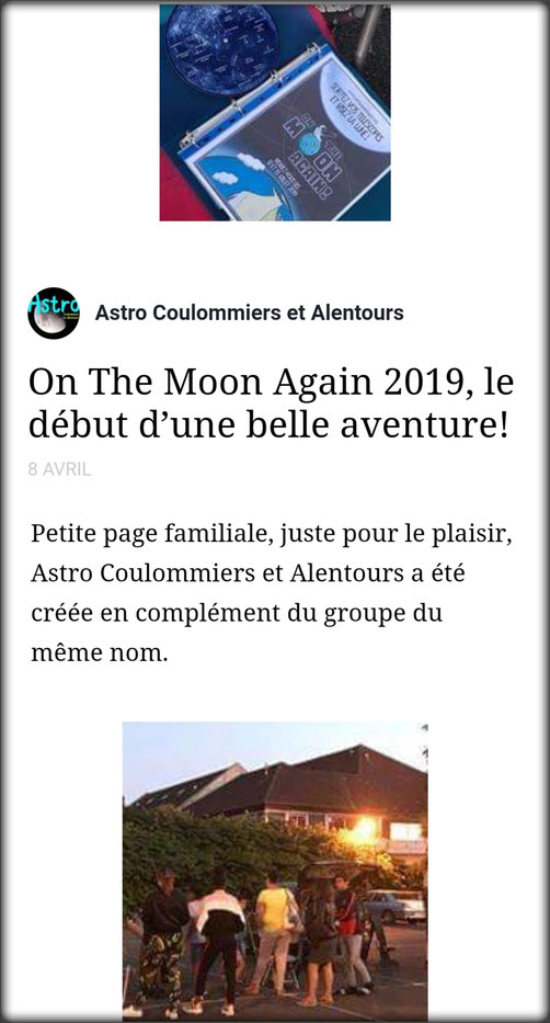 astronomie on the moon again coulommiers Coulastro