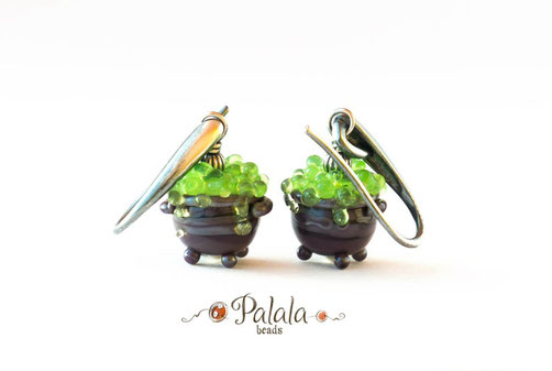 Earrings ''Cauldron of the witch''