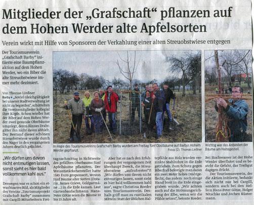 Volksstimme vom 26.11.2012 Fotorechte bei Th. Linßner