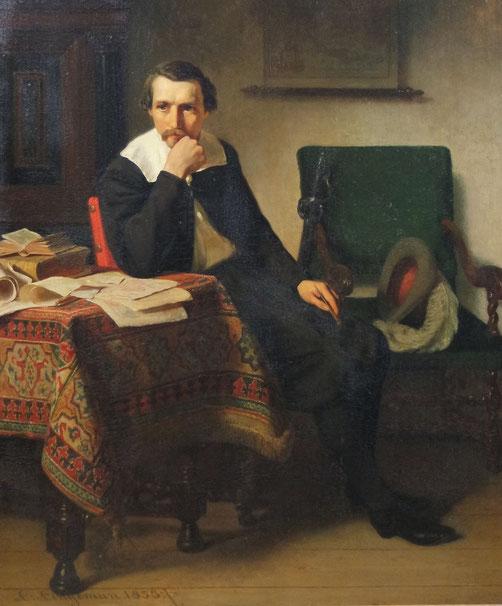 te_koop_aangeboden_een_genre_schilderij_van_de_nederlandse_kunstschilder_lambertus_lingeman_1829-1894_hollandse_romantiek