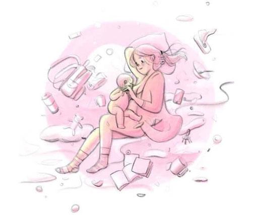 Илюстраторката Джой Хуанг проследява различни моменти от живота си като кърмеща майка в поредица прекрасни рисунки. Може да ги видите в нейния Инстаграм акаунт https://www.instagram.com/momisdrawing/ или Facebook https://www.facebook.com/momisdrawing/